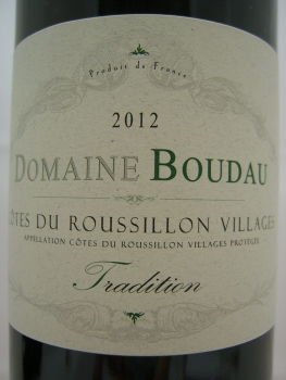 Domaine Boudau Tradition 2017 AC Cotes du Roussillon Villages, Rotwein, trocken, 0,75l