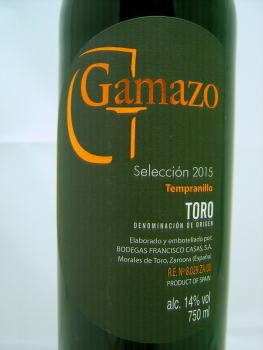 Bodegas Francisco Casas Gamazo Seleccion 2015, DO Toro, Rotwein, trocken, 0,75l